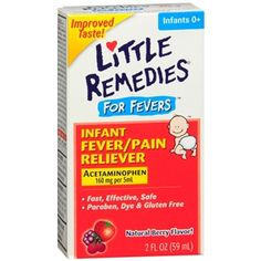 Buy Little Remedies Infant Fever/Pain Reliever Acetaminophen, Dye-Free, Berry with free shipping on orders over $35, low prices & product reviews | drugstore.com