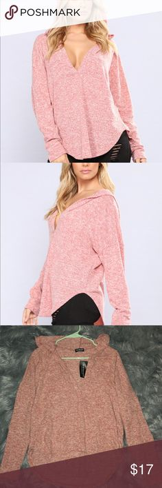 Fashion nova pink top Never worn, tag still attached ! Super soft! Fashion Nova Tops Tees - Long Sleeve