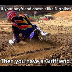 For the sweet love of MOTOCROSS! Our ultimate list of motocross quotes are dirty, funny, serious and always true. Check out our favorite motocross sayings Dirtbike Memes, Motocross Funny, Motocross Quotes, Dirt Bike Quotes, Motocross Love, Motorcycle Memes, Enduro Motocross, Motocross Helmets, Racing Quotes