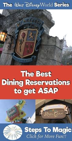 Top Ten Disney Advance Dining Reservations to get ASAP at Disney World | #WaltDisneyWorld #DisneyDining #MagicKingdom