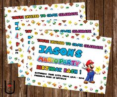 Super Mario Party Birthday Bash Party by UberGeekDesigns on Etsy