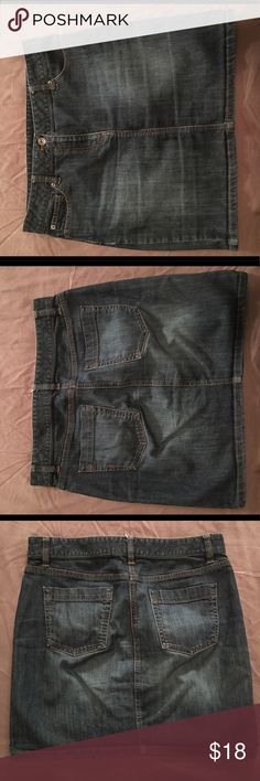 Ann Taylor jean Skirt Ann Taylor Jean Skirt. Mid thigh/above knees. EUC. Ann Taylor Skirts