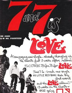 Love - 7 & 7 Is.Single advert By Elektra Records USA