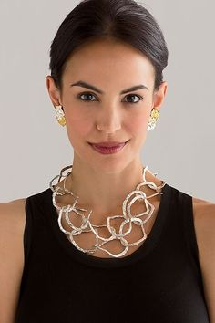 Splendore Jewelry: Emanuela Duca: Sterling Silver Necklace - Artful Home