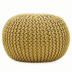 SOFT KNITTED CUSHION POD POUFFE - FOOT STOOL - SEATING SEAT LOUNGE POUF / POUFE | eBay