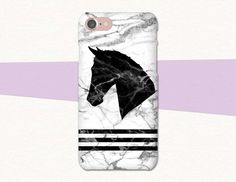 """Marble Black and White Horse Head phone case from Atlantek Designs. Buy from Etsy!  >>>Original work by Purple Horse Designs especially for AtlantekDesigns<<<"
