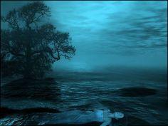 """Mystic Night,"" by draganea and ljilja, seems like a gothic rendering of Ophelia. Ufo, Whatever Is True, Spiritual Wisdom, Mystic, Gothic, Novels, Spirituality, Universe, Clouds"
