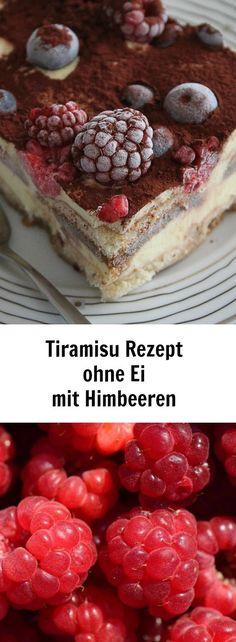 Tiramisu Rezept ohne Ei, aber mit Himbeeren und Rum! Ein einfaches Sommer Dessert, das viele Menschen auf der Gartenparty glücklich macht. #tiramisu #tiramisurezept #tiramisurezeptohneei #himbeeren #himbeerdessert