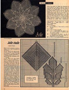 Napperon Jolie Étoile - Knitted doily Pretty Star.