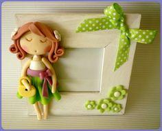 *COLD PORCELAIN ~ Girl in cold porcelain on a frame