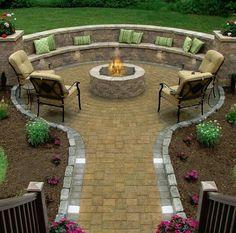 Backyard DIY Fire Pit