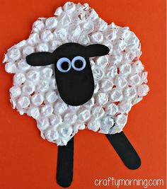 Have your kids make a bubble wrap sheep craft! All you need is bubble wrap, paint, and paper to make this cute sheep art project!