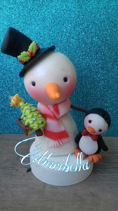Snowman ..muñeco de nieve. ...#Navidad #snowman #christmas #maribella
