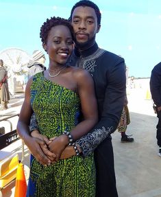 Black Panther: Lupita Nyong'o and Chadwick Boseman (photo via Lupita's Instagram)