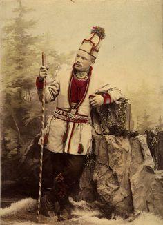 Samisk mann fra Sverige. 1904. Sami man from Sweden.