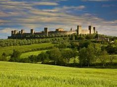 Photographic Print: Walled Hillside Town of Monteriggioni, Italy in Spring Green by Terry Eggers : Tuscany Landscape, Toscana Italy, Italy Travel, Italy Trip, Siena, Places To See, Monument Valley, Landscape Photography, The Good Place