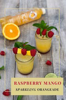 Raspberry Mango Sparkling Orangeade Recipe #GetFizzy with @SparklingIce! #SchoolsInSession #SparklingIceLife #PopFizz #ad