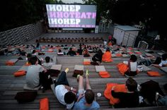 outdoor cinema architecture: