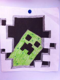 Minecraft creeper draw
