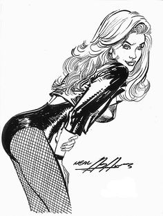 """Black Canary"" by Neal Adams Sketchbook 2007 