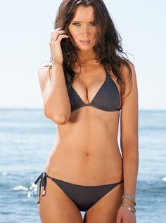 Charcoal Triangle Two Piece Swimsuit , http://amzn.to/18kn8BP summer  swimwear