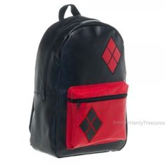 DC-Comics-BATMAN-Licensed-Deluxe-XL-18-HARLEY-QUINN-Leatherette-BACKPACK-BTS