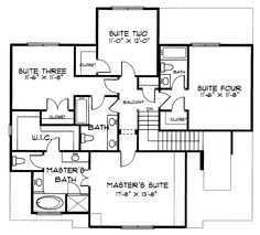 Home Plans HOMEPW09977 - 2,241 Square Feet, 4 Bedroom 3 Bathroom Second Empire Home with 2 Garage Bays