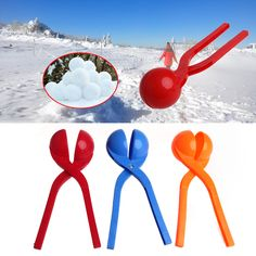 New 1Pc Children Kids Winter Snow Ball Maker Mold Tool Snowball Fight Outdoor Sport Tool Toy Child Gift
