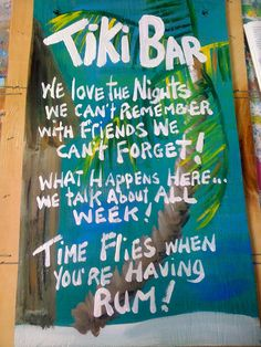 beach bars | RhondaK mutiple funny saying Tiki Bar Sign Large with three sayings ...