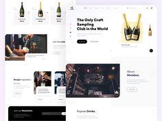 Product Landing page by sadbin walid Popular Drinks, Landing Page Design, Food Inspiration, Web Design, Design Web, Website Designs, Site Design