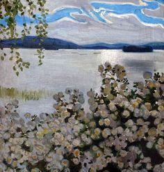 Akseli Gallen-Kallela, White Roses, 1906, Oil on canvas, 62 x 58 cm, Professor Günther Fielmann Collection