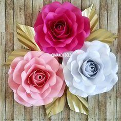 Flores de papel rosas de papel