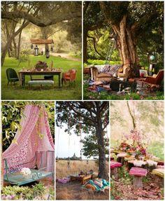 14 Bohemian style gardens