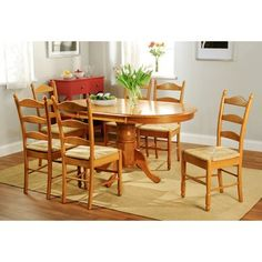 August Grove Sainfoin 7 Piece Dining Set Finish: Oak