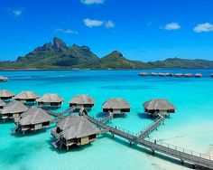Tahiti, Bora Bora - one of the most popular tourist destinations of Tahiti Bora Location. Bora and nature are very different and fantastic; it is surrounded by a lagoon and barrier reef.Absolutely an excellent place for family holidays, honeymoons and diving