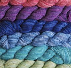 2.Shimmer Hand Dyed Lace Yarn