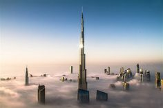 Oct. 20, 2012: The Burj Khalifa, which is the world's tallest building, towers above the fog in Dubai.
