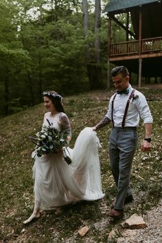 Cabin in the woods elopement, Elopement in the woods, Bridal style, Elopement
