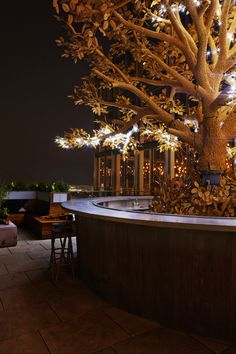the tree bar on the terrace of SUSHISAMBA London
