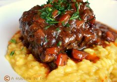 Osso Bucco with Rissotto Milanese (A Feast for the Eyes)