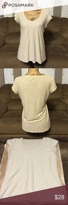 """Standard James Perse Tee Cream color scoop neck James Perse tee. Made for luxurious comfort and everyday wear. The size tag is missing but it's a size 2 medium, measures  19"""" armpit to armpit James Perse Tops Tees - Short Sleeve"""