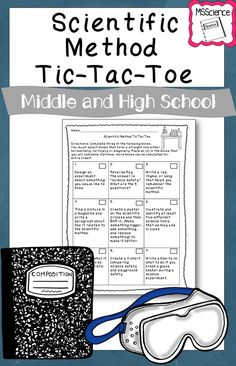 Scientific Method Tic-Tac-Toe Activity - New Sites High School Chemistry, Elementary Science, Middle School Science, Science Education, Teaching Science, Physical Science, Teaching Cells, Science Inquiry, Chemistry Class