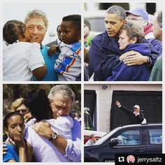 A picture tells a thousand words. Wow...   #HurricaneHarvey #potus #HarveyFlood  #Repost @jerrysaltz (@get_repost)  Trump met with no victims#Shameless  #GeorgeBush #BarackObama #BillClinton