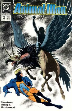 The cover to Animal Man #13 (1989), art by Brian Bolland