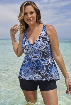 Shore Club Haven Flowy Tankini Boy Shortini