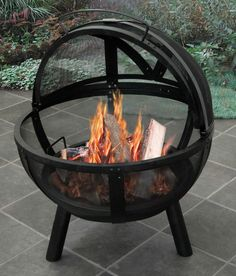 Shop outdoor fire pits, wood-burning fire pits and propane gas fire pits, and fire pit tables, fire pit covers, fire bowls and more backyard fire pit ideas. Metal Fire Pit, Wood Burning Fire Pit, Fire Fire, Fire Wood, Fire Pit Bowl, Fire Bowls, Outdoor Rooms, Outdoor Living, Outdoor Decor