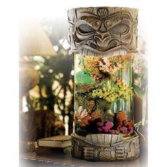 Aloha Tiki 5 Gallon Salt Water Aquarium