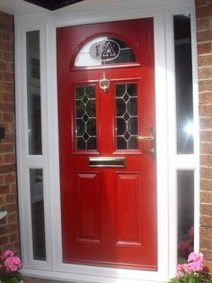 High Gloss Poppy Red Composite Door   Front porch   Pinterest ...