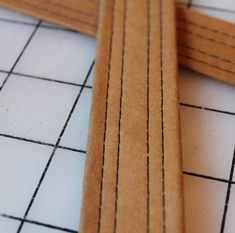how to make tote bag handles with kraft-tex --- Domestic Strata