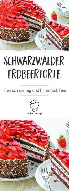 Jeder kennt sie, jeder backt sie, jeder liebt sie. Doch hier kommt eine Neuauflage des Klassikers: Die Schwarzwälder Erdbeertorte! Herrlich cremig und himmlisch fein.